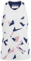 Koszulka dziewczęca Babolat Compete Tank Top Girl - white/estate blue