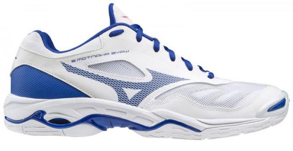Buty do squasha Mizuno Wave Phantom 2 - white/reflex blue/diva pink