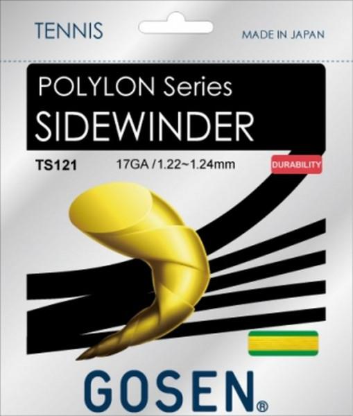 Tenisa stīgas Gosen Polylon Sidewinder (12.2 m) - yellow