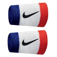 Nike Swoosh Double-Wide Wristbands - habanero red/black