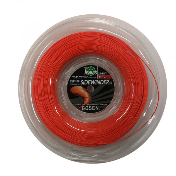 Tenisa stīgas Gosen Polylon Sidewinder (200 m) - orange