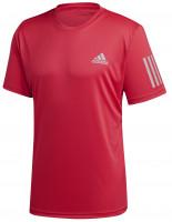 Teniso marškinėliai vyrams Adidas M Club 3 Stripes Tee - power pink