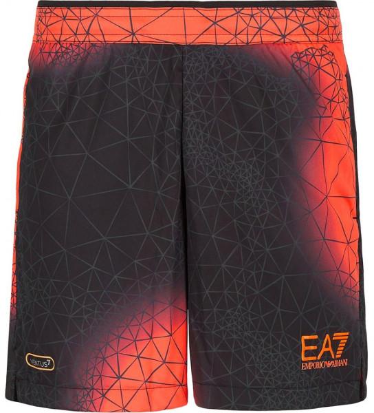 Muške kratke hlače EA7 Man Jersey Shorts - fancy orange