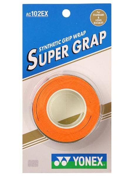 Viršutinės koto apvijos Yonex Super Grap (3 vnt.) - orange