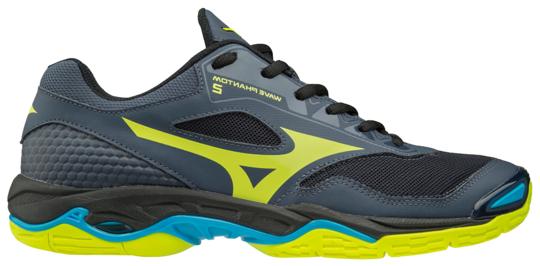 Buty do squasha Mizuno Wave Phantom 2 - ombre blue/safety yellow/hawaiian ocean