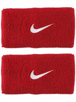 Nike Swoosh Double-Wide Wristbands - varsity red/white