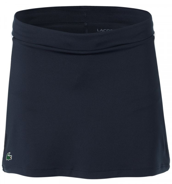 Ženska teniska suknja Lacoste Women's SPORT Breathable Stretch Tennis Skirt - navy blue/white