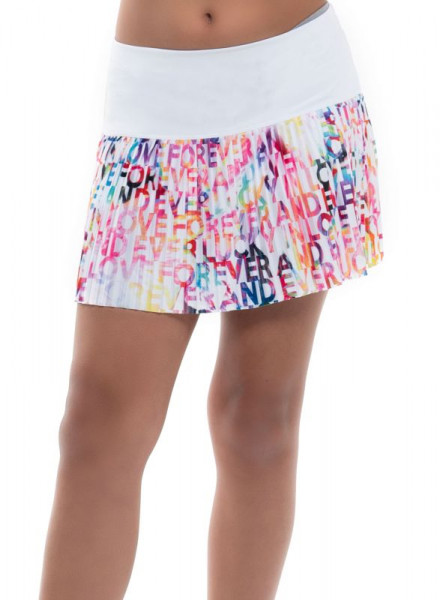 Suknja za djevojke Lucky in Love Techno Tropic Techno Love Pleated Skirt Girls - punch