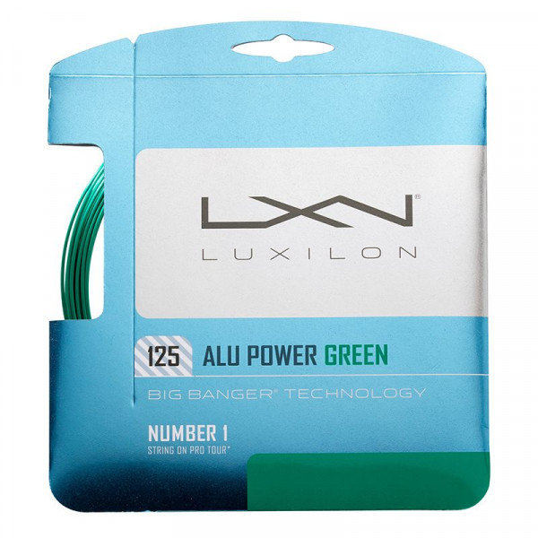 Naciąg tenisowy Luxilon Big Banger Alu Power 125 (12,2 m) L.E. - green