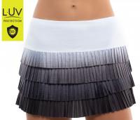 Damska spódniczka tenisowa Lucky in Love Luv Prints Nightfall Ombre Pleated Skirt Women - black