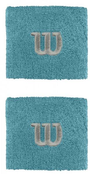 Wilson Wristbands Poignets - bluebird/silver
