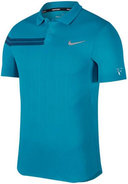 Nike Court RF Advantage Polo PS - neo turquoise/neo turquoise/metallic silver
