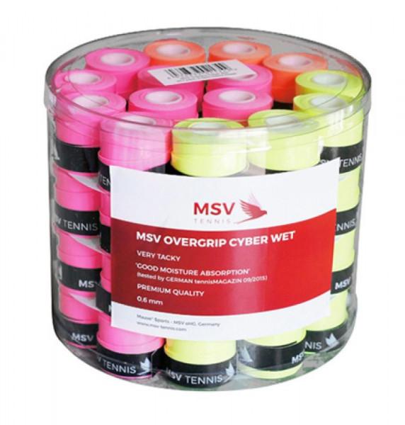 Owijki tenisowe MSV Cyber Wet Overgrip neon yellow/neon orange/neon pink 60P