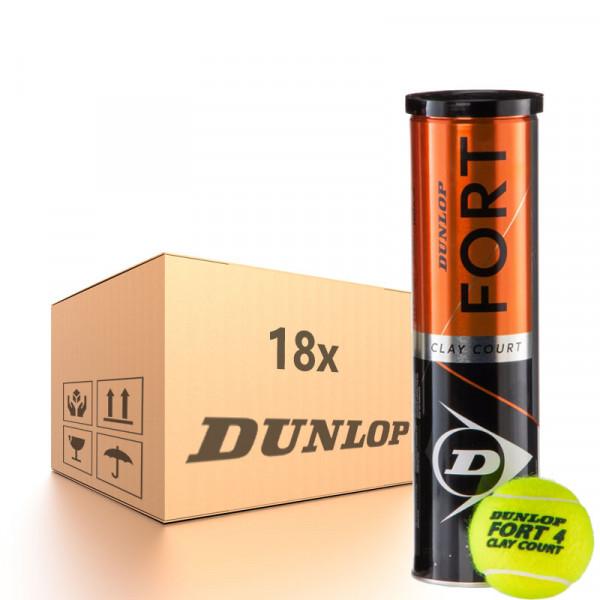 Teniso kamuoliukų dėžė Dunlop Fort Clay Court - 18 x 4B