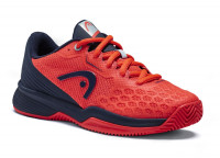 Teniso batai jaunimui Head Revolt Pro 3.5 Clay Junior - neon red/dress blue