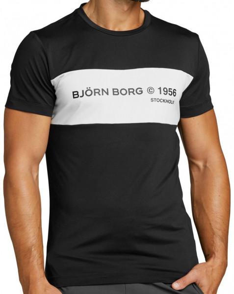 T-krekls vīriešiem Björn Borg Stockholm Blocked T-shirt M - black beauty