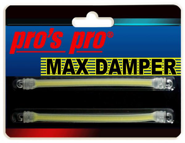 Tenisa vibrastopi Pro's Pro Max Damper 2P - yellow