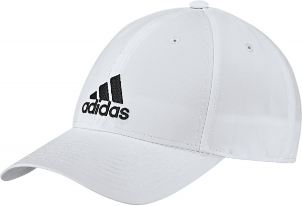 Czapka tenisowa Adidas 6 Panel Classic Lightweight Metal Badge - white/white/black