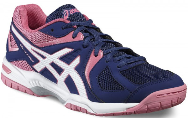 Damskie buty do squasha Asics Gel-Hunter 3 - indigo blue/white/azalea pink