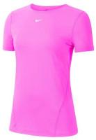 Damski T-shirt Nike Pro Top SS All Over Mesh W - pink
