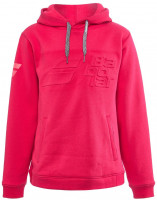 Bluza dziewczęca Babolat Exercise Hood Sweat Jr - red rose