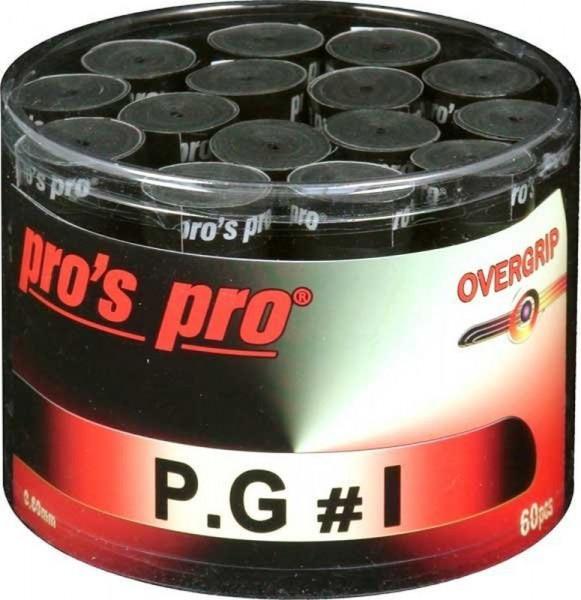 Tenisa overgripu Pro's Pro P.G. 1 60P - black