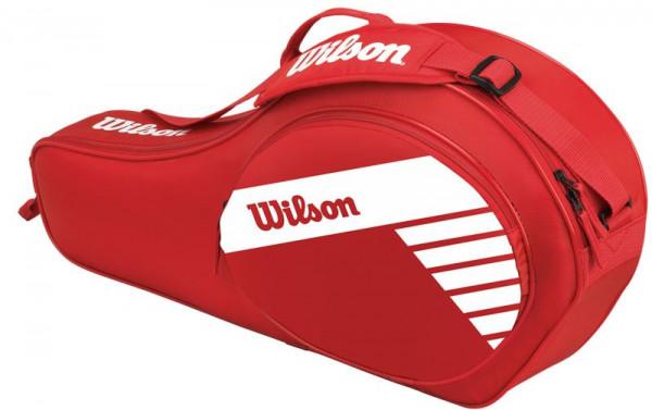 Wilson Junior 3 Pack Bag - red/white