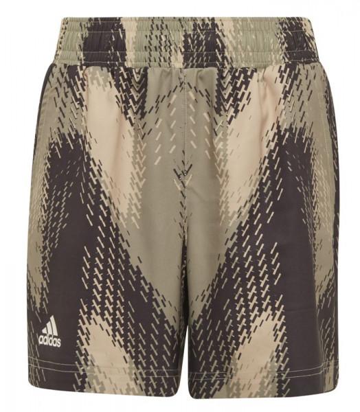 Poiste šortsid Adidas Printed Short B - beige tone/black/focus olive