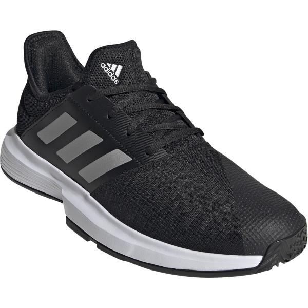 Vīriešiem tenisa apavi Adidas Game Court M - core black/matte silver/cloud white