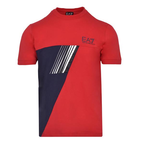 Teniso marškinėliai vyrams EA7 Man Jersey T-Shirt - racing red