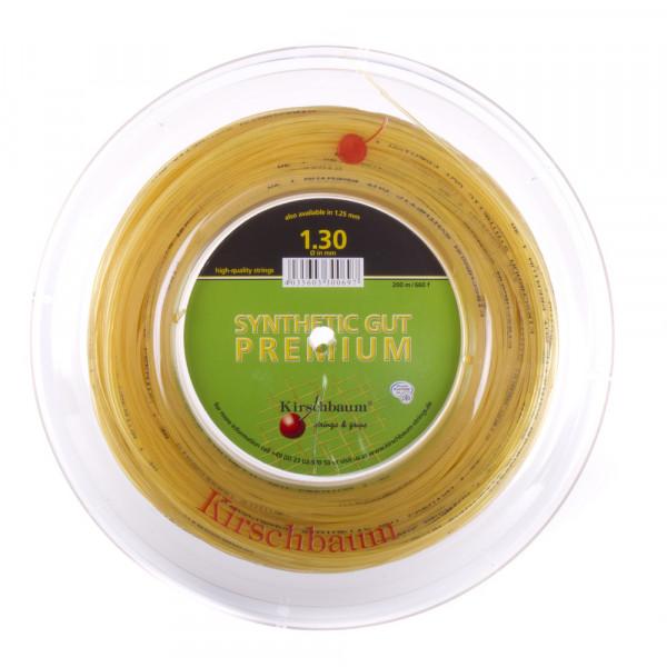 Naciąg tenisowy Kirschbaum Synthetic Gut Premium (200 m) - natural