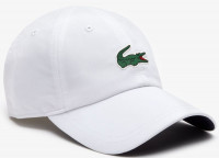 Czapka tenisowa Lacoste SPORT NOVAK DJOKOVIC-ON COURT COLLECTION Microfiber Cap - white