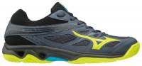 Buty do squasha Mizuno Thunder Blade - ombre blue/safety yellow/hawaiian ocean