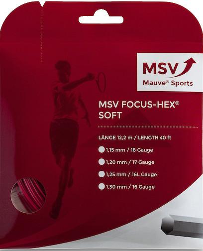 Teniska žica MSV Focus Hex Soft (12 m) - red