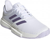 Damskie buty tenisowe Adidas SoleCourt W - cloud white/tech purple/legacy purple