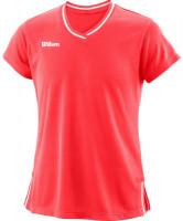 Marškinėliai mergaitėms Wilson Team II V-Neck G - fiery coral