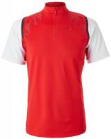 Męskie polo tenisowe Adidas Stella McCartney Court Men Zipper Tee - active red