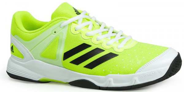 Juniorskie buty do squasha Adidas Court Stabil J - solar yellow/core black/ ftwr white