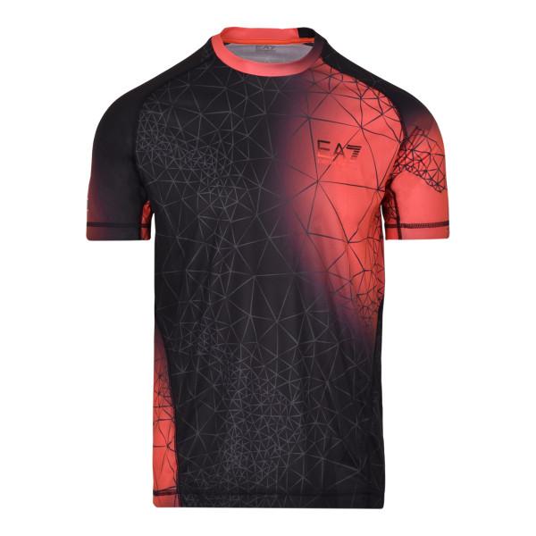 Teniso marškinėliai vyrams EA7 Man Jersey T-Shirt - fancy orange