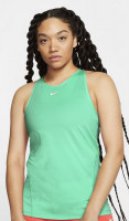 Damski top tenisowy Nike Pro Tank All Over Mesh - green glow/white