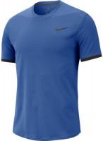 Męski T-Shirt Nike Court Top SS  - game royal/black/black