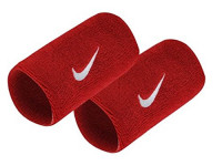 Frotka tenisowa Nike Swoosh Double-Wide Wristbands - varsity red/black