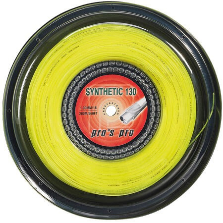 Tenisa stīgas Pro's Pro Synthetic 130 (200 m) - yellow