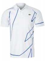 Męskie polo tenisowe Lacoste Novak Djokovic Melbourne Polo - white/blue