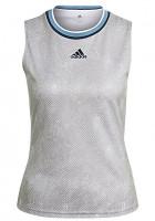 Damski top tenisowy Adidas Primeblue Printed Match Tank Top W - white/crew navy
