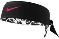 Bandana tenisowa Nike Dri-Fit Head Tie 3.0 - white/black/track red