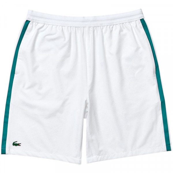 Muške kratke hlače Lacoste Men's Lacoste SPORT x Novak Djokovic Breathable Stretch Shorts - white/gre