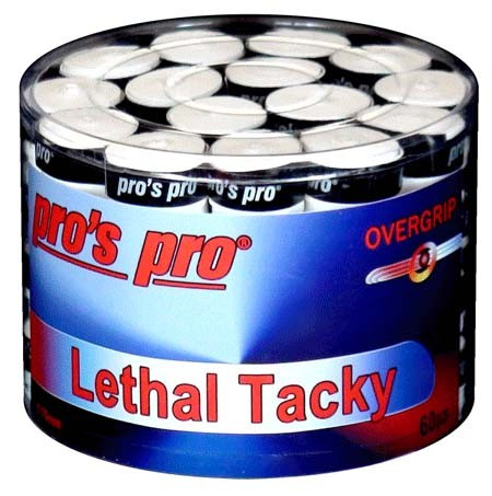 Owijki tenisowe Pro's Pro Lethal Tacky (60 szt.) - white