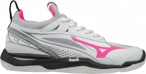 Buty do squasha Mizuno Wave Mirage 2.1 - white/grey/pink