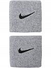 Frotka tenisowa Nike Swoosh Wristbands - matte silver/black